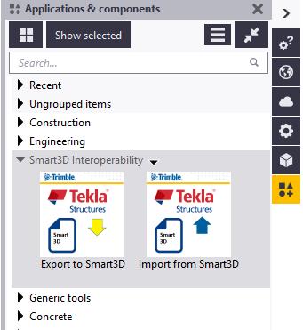 Smart3D Interoperability | Tekla User Assistance