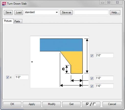 Turn Down Slab : Turn down slab tekla user assistance
