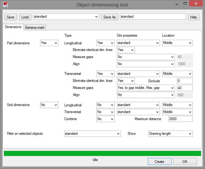 object dimensioning tekla user assistance