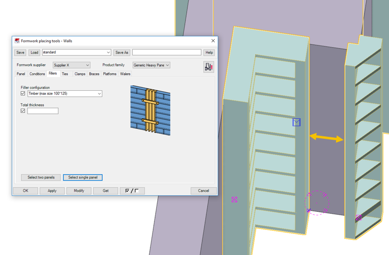 Formwork Placing tools - Walls: Release notes | Tekla User Assistance