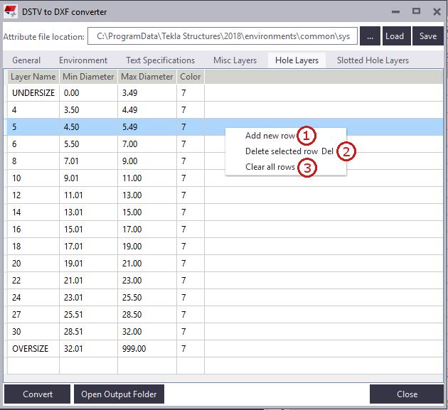 DSTV to DXF Converter | Tekla User Assistance