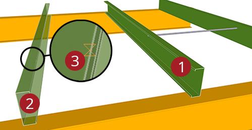 The order to select Tekla Structures model when adding Metsec Mezzanine Floor Tie Bar (38)