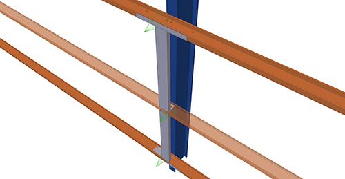 Tekla Structures model after adding Albion HCSS Column (58)