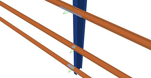 Tekla Structures model before adding Albion HCSS Column (58)