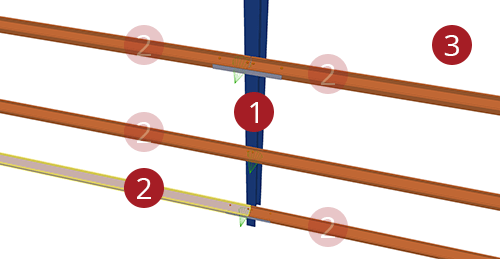 The order to select Tekla Structures model when adding Albion HCSS Column (58)