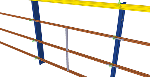 Tekla Structures model after adding Albion Cladding Joint Rail (59)