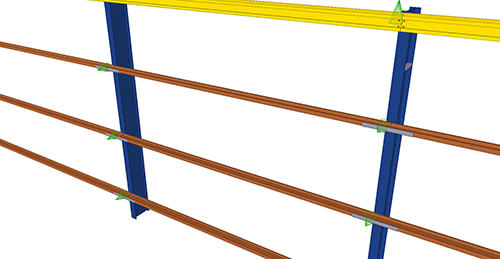 Tekla Structures model before adding Albion Cladding Joint Rail (59)