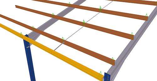 Tekla Structures model after adding Albion Std. Anti-Sag Bay (62)