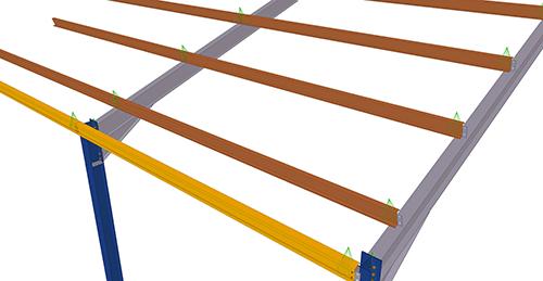 Tekla Structures model before adding Albion Std. Anti-Sag Bay (62)