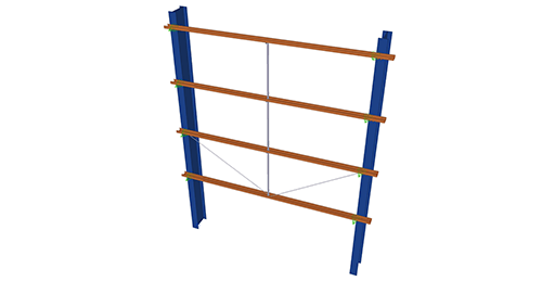 Tekla Structures model after adding Albion Side Rail Supports (63)