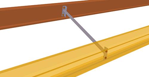 Tekla Structures model after adding Albion Eaves Brace (64)
