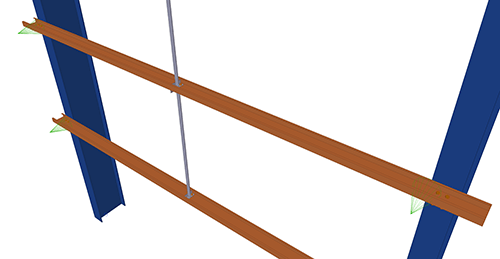 Tekla Structures model before adding Albion Diagonal Ties (65)