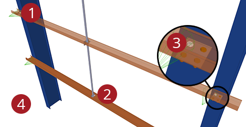 The order to select Tekla Structures model when adding Albion Diagonal Ties (65)