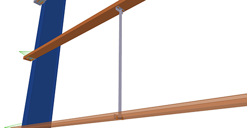 Tekla Structures model after adding Albion Non-Std Side-Rail (88)