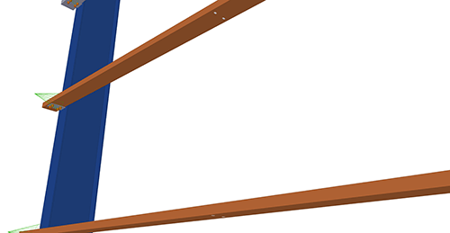 Tekla Structures model before adding Albion Non-Std Side-Rail (88)