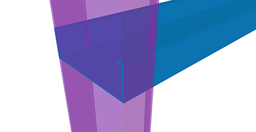 Tekla Structures model before adding Ayrshire Cold Rolled Cleat (115) joint