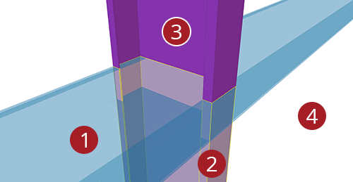 The order to select Tekla Structures model when adding Ayrshire Cold Rolled Cleat (115)
