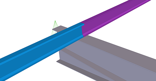 Tekla Structures model before adding Ayrshire Cold Rolled Overlap (126) joint