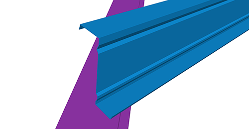Tekla Structures model before adding Ayrshire Simple Hip (14) connection