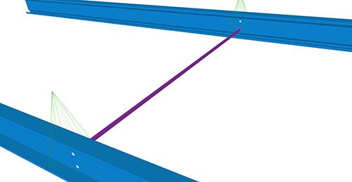 Tekla Structures model after adding Ayrshire Non-Standard Anti-Sag (67)
