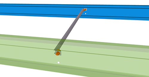 Tekla Structures model after adding Ayrshire Eaves Ties (68)