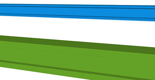 Tekla Structures model before adding Ayrshire Eaves Ties (68)
