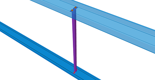 Tekla Structures model after adding Ayrshire Non-Standard Side Rail Support (70)