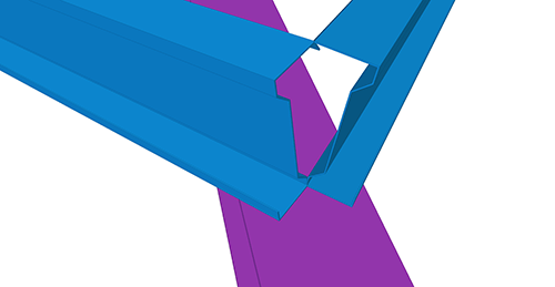 Tekla Structures model before adding Ayrshire Shearplate to Hip (8) connection