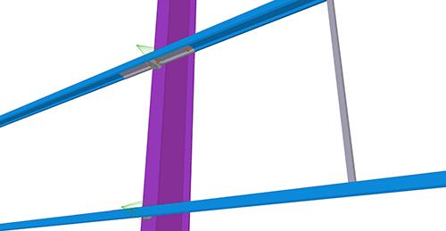 Tekla Structures model before adding Ayrshire Diagonal Tie Column (81)