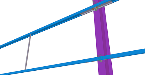 Tekla Structures model before adding Ayrshire Diagonal Tie Cleat (82)