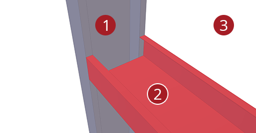 The order to select Tekla Structures model when adding BW Industries Cold Rolled Cleat (133)