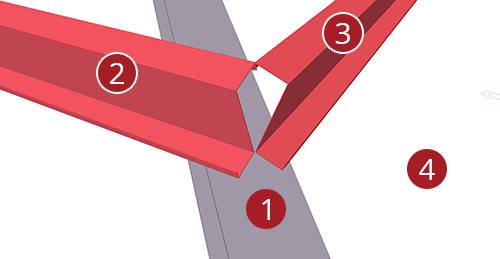 The order to select Tekla Structures model when adding BW Industries Shear Plate to Hip (137)