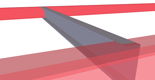 Tekla Structures model before adding BW Industries Mezzanine Floor Connection (139)