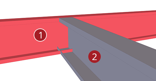 The order to select Tekla Structures model when adding BW Industries Mezzanine Floor Connection (139)