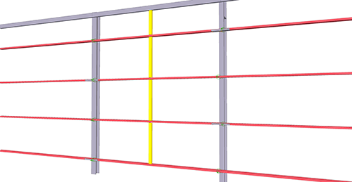 Tekla Structures model after adding BW Industries Standard Horizontal Cladding Support (31)
