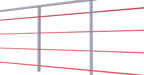 Tekla Structures model before adding BW Industries Standard Horizontal Cladding Support (31)