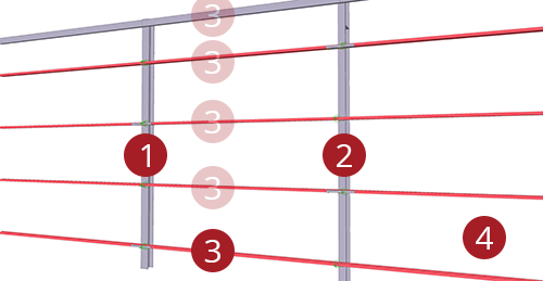 The order to select Tekla Structures model when adding BW Industries Standard Horizontal Cladding Support (31)