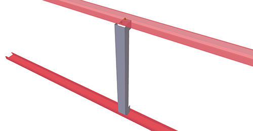 Tekla Structures model after adding BW Industries Non-Standard Horizontal Cladding Support (34)