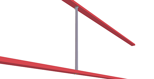 Tekla Structures model after adding BW Industries Non-Standard Side Rail (52)