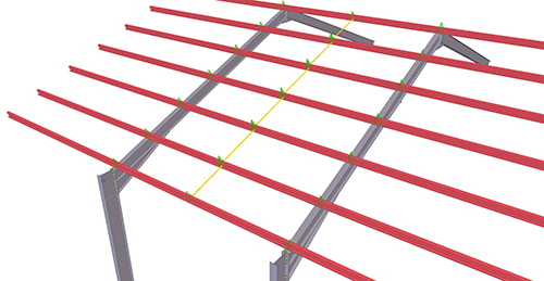 Tekla Structures model after adding BW Industries Standard Anti-Sag Bay (53)