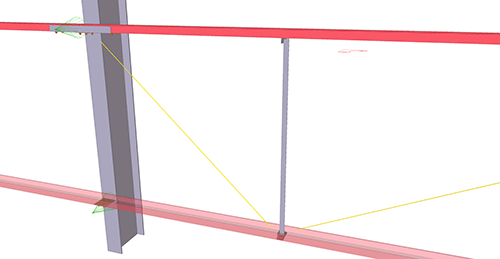 Tekla Structures model after adding BW Industries Diagonal Ties (55)