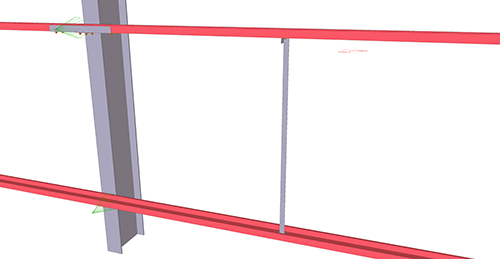 Tekla Structures model before adding BW Industries Diagonal Ties (55)