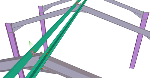 Tekla Structures model before adding CMF Apex Tie Bay (12)