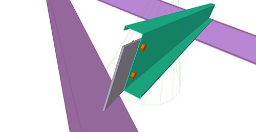 Tekla Structures model after adding CMF Simple Hip (14)