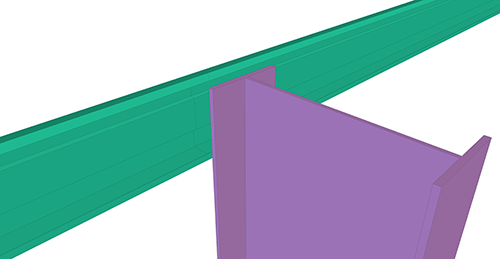 Tekla Structures model before adding CMF Eaves Beam to Stanchion (27)