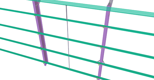 Tekla Structures model after adding CMF Side Rail Supports (28)