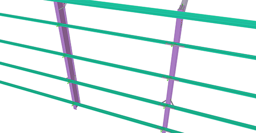 Tekla Structures model before adding CMF Side Rail Supports (28)
