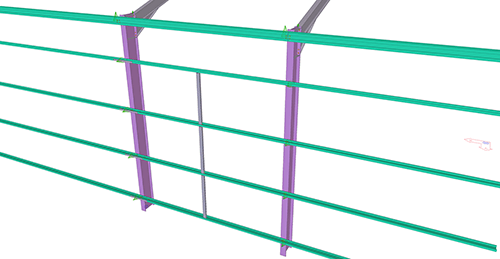 Tekla Structures model after adding CMF Standard Horizontal Cladding Support (31)