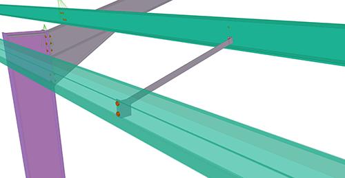 Tekla Structures model after adding CMF Eaves Brace (54)