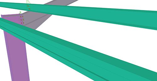 Tekla Structures model before adding CMF Eaves Brace (54)